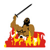 Hercules in Flames Icon