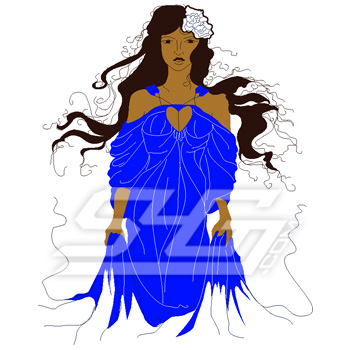 Lady in Flowing Gown Icon