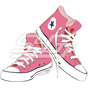 Pink Chuck Taylors Patch