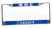 Phi Beta Sigma Legacy License Plate Frame- Phi Beta Sigma Car Tag
