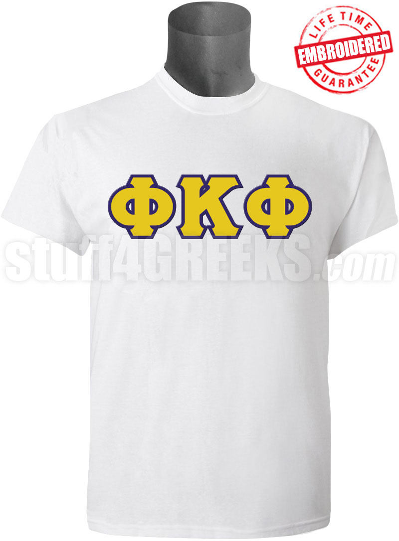 Sorority-White-Tshirt-Embroidered-Alpha-Chi-Omega-Script- ...