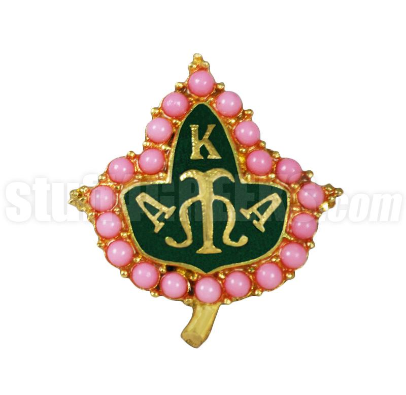 Alpha Kappa Alpha 1 Pink Pearl Lapel Pin