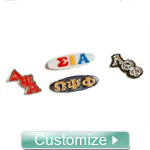 Custom Greek Lapel Pin for Any Fraternity or Sorority