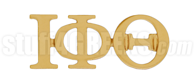 Iota Phi Theta 1 Greek Letter Lapel Pin Gold