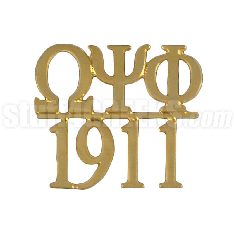Omega Psi Phi 10625 1911 Chapter Bar Lapel Pin Gold