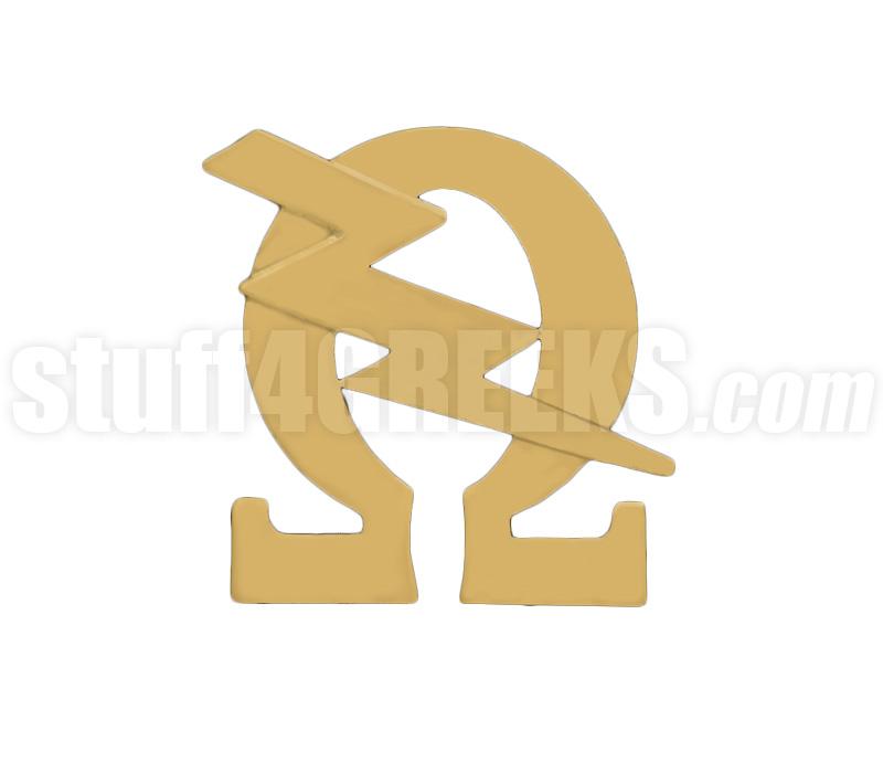 Omega Psi Phi 075 Imagemascot Lapel Pin With Q Bolt Polished Gold