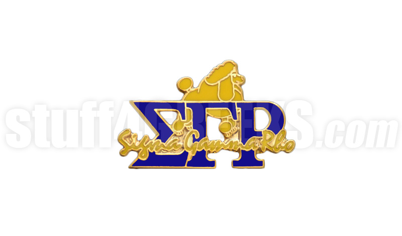 """Sigma Gamma Rho 1"""" Signature Greek Letter New Image Lapel Pin with ..."""