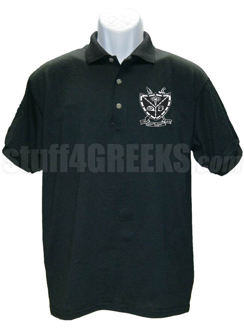 groove phi groove polo shirt with crest  black