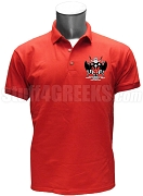 Kappa Pi Beta Polo Shirt with Crest, Red
