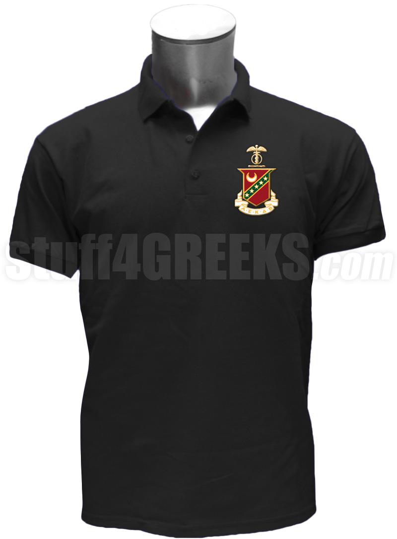kappa sigma polo shirt with crest  black