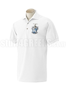 Phi Delta Theta Polo Shirt with Crest, White