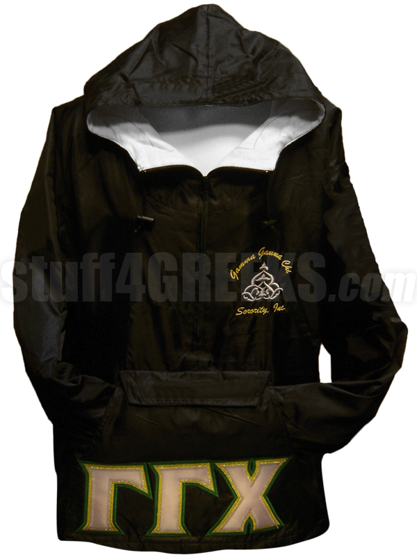 Gamma Gamma Chi Triple Greek Letter Pullover Anorak Jacket with ...