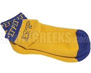 Sigma Gamma Rho Colored Bootie Socks with Greek Letters and Organization Name