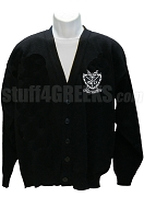 Groove Phi Groove Cardigan with Crest, Black
