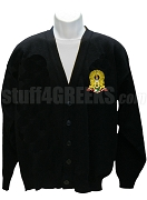Kappa Alpha Order Cardigan with Crest, Black
