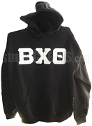 Beta Chi Theta Greek Letter Pullover Hoodie, Black