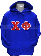 Chi Phi Pullover Hoodie Sweatshirt with Greek Letters, Royal Blue