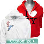 Personalized Embroidered Zip-Up Hoodie Sweatshirt