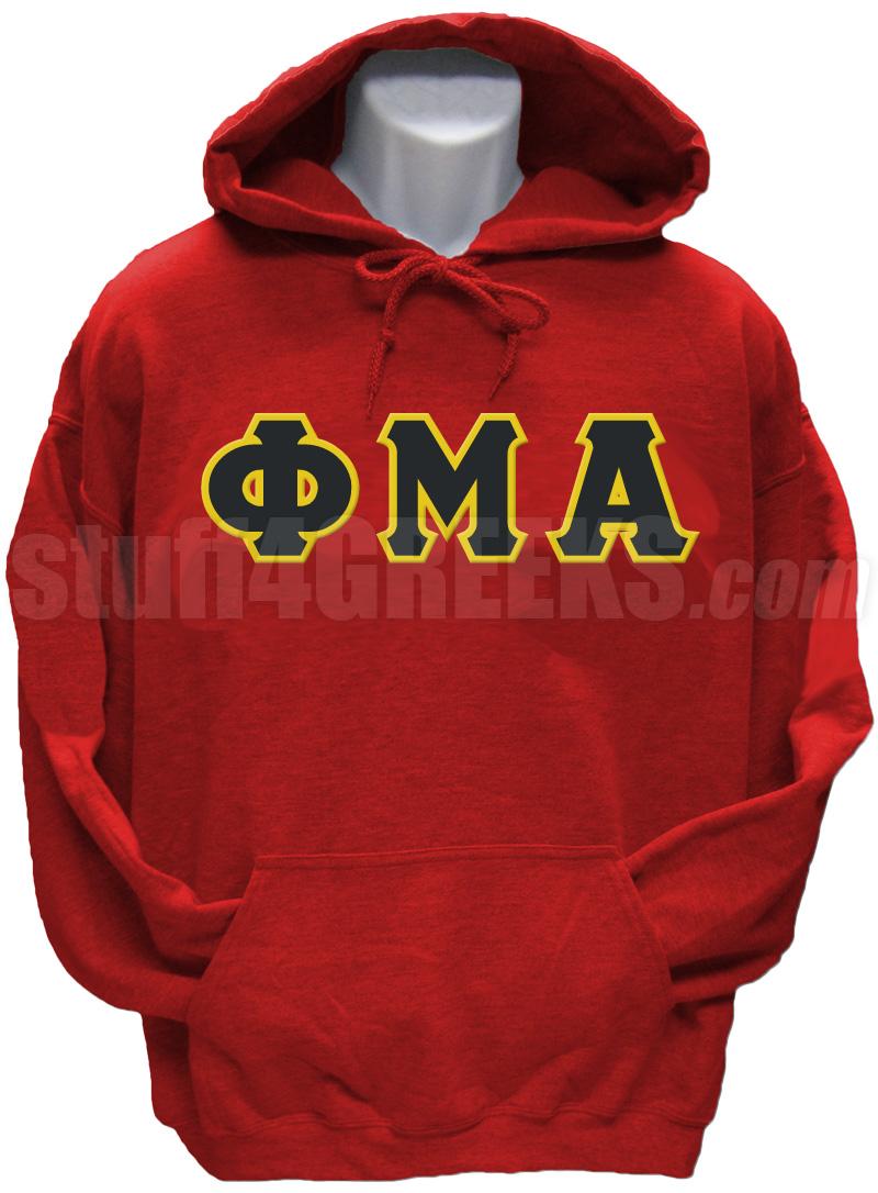 Phi Mu Alpha Greek Letter Pullover Hoodie Sweatshirt, Red