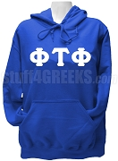 Phi Tau Phi Ladies Greek Letter Pullover Hoodie Sweatshirt, Royal Blue