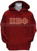 Pi Beta Phi Greek Letter Pullover Hoodie Sweatshirt, Wine