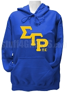 Omega Sigma Chapter of Sigma Gamma Rho Greek Letter Hoodie Sweatshirt with Chapter Letters, Royal Blue