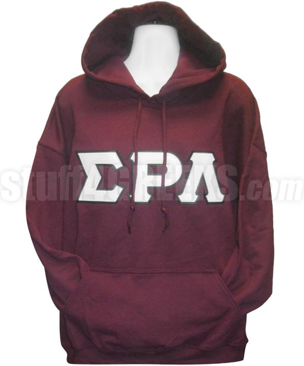 greek letter pullover hoodie sweatshirt maroon zoom