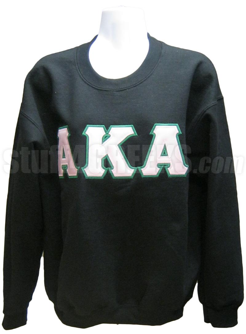 alpha kappa alpha greek letter crewneck sweatshirt kelly