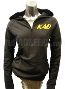 Kappa Alpha Theta Half-Zip Pullover Hoodie with Letters, Black