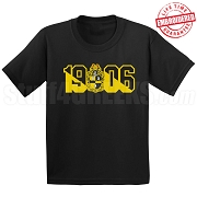 Alpha Phi Alpha Black T-Shirt with Crest and Founding Year - EMBROIDERED with Lifetime Guarantee