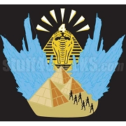 Alpha Phi Alpha Icon of Pharaoh with Pyramids & Ice