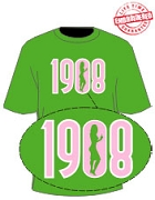 Lady in 1908 T-Shirt, Kelly Green - EMBROIDERED with Lifetime Guarantee