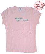 20 Pearls Ladies Tee, Pink - EMBROIDERED with Lifetime Guarantee