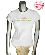 AKA Standards Ladies Fitted Tee, White - EMBROIDERED with Lifetime Guarantee