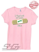I Bleed Pink and Green (AKA), Pink - EMBROIDERED with Lifetime Guarantee