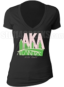 Alpha Kappa Alpha 2016 Boule V-Neck Shirt, Black (AB)