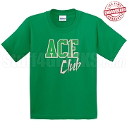 Ace Club T-Shirt, Kelly/Pink - EMBROIDERED with Lifetime Guarantee