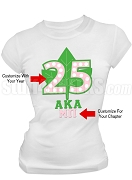 Alpha Kappa Alpha Screen Printed Anniversary T-Shirt, White