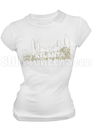 Alpha Kappa Alpha Bling Atlanta Scoop Neck T-Shirt, White (AB)