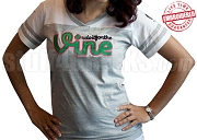 Do It For The Vine Powder Puff Tee, Gray/White - EMBROIDERED with Lifetime Guarantee