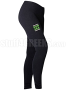 Alpha Kappa Alpha Run DMC Screen Printed Athletic Leggings, Black (BC)