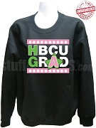 Alpha Kappa Alpha HBCU Grad Crewneck Sweatshirt, Black - EMBROIDERED with Lifetime Guarantee