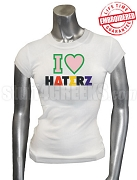 Alpha Kappa Alpha I Heart Haterz T-Shirt, White - EMBROIDERED with Lifetime Guarantee
