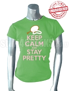 Alpha Kappa Alpha Keep Calm T-Shirt, Key Lime Green - EMBROIDERED with Lifetime Guarantee