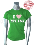 Alpha Kappa Alpha I Heart My LSs T-Shirt - EMBROIDERED with Lifetime Guarantee
