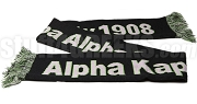 Greek Sorority Scarf with Organization Name and Founding Year, Black