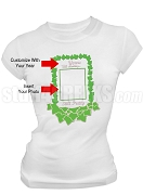 Alpha Kappa Alpha Screen Printed Anniversary T-Shirt with Photo Insert, White