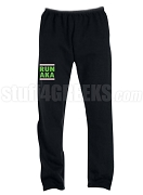 Alpha Kappa Alpha Run DMC Screen Printed Sweatpants, Black (AB)