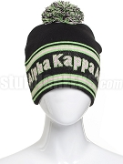 Alpha Kappa Alpha Pom-Pom Beanie Hat with Organization Name (SAV)