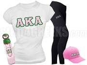 Alpha Kappa Alpha Sports Package - INCLUDES ATHLETIC PANTS, PERFORMANCE SHIRT, LIGHTWEIGHT HAT & EARBUDS